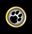 paw logo vector image vector image