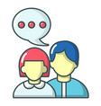 people conversation icon cartoon style vector image