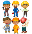 people doing different types jobs vector image vector image