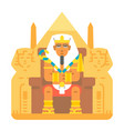 pharaoh sitting on throne cartoon design vector image