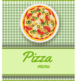 pizza menu green vector image vector image