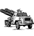 reactive artillery vector image