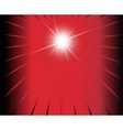 Red black ray Star burst background vector image vector image