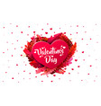 red heart valentines day 3d red hearts and vector image vector image