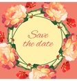 Roses wedding wreath post card vector image vector image