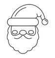 santa face icon outline style vector image vector image