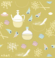 sea shells sea salt body oil and flowers-spa in vector image