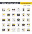 seo and developement icons vector image vector image