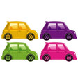 set four pictures car in four different vector image vector image