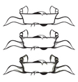 Set of old style banners - ribbons vector image vector image
