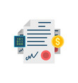 smart contract concept related icon vector image vector image
