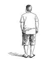 standing man vector image vector image