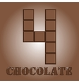The number of bars chocolate Four vector image vector image
