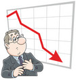 trader and business recession vector image