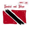 trinidad and tobago flag brush strokes painted vector image vector image