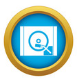 turntable icon blue isolated vector image vector image