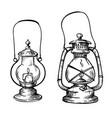 vintage hand drawn lanterns vector image vector image
