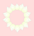 white bud indian lotus wreath vector image vector image