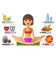 yoga logo design template sport fitness vector image vector image