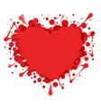 Heart-shaped splash isolated on white vector image