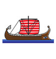 greek boat odyssey argonauts for greece travel vector image