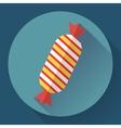 Sweet xmas candy icon Flat designed style vector image