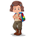 a girl with scout uniform vector image vector image