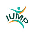 abstract jump logo vector image vector image