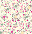 Abstract Seamless Pattern with Flowers Background vector image vector image