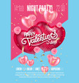 balloon hearts holiday of vector image