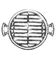bbq grill top view monochrome blurred silhouette vector image vector image