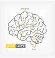 brain maze creative idea concept outline vector image