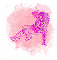break dance dancer on handcrafted splashes vector image vector image
