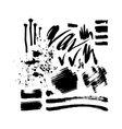 Brush stroke set vector image