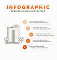building green plant city smart infographics vector image