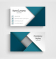 Business card with abstract blue triangles vector image vector image