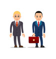 business man businessman stand and raising up vector image vector image