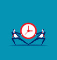 business people and vying for time concept vector image vector image