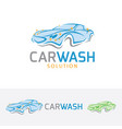 car wash logo design vector image vector image