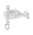 christmas parties vector image vector image
