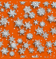 christmas seamless pattern paper snowflakes vector image