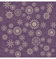 Christmas snowflake pattern Winter theme texture vector image vector image