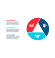 cirle infographic with 3 options or steps vector image vector image