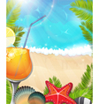 cocktail on tropical background vector image vector image