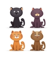 collection cat cute pet icon vector image vector image