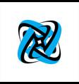 connected circle tech technology logo design vector image vector image
