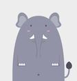 cute fat big elephant vector image vector image