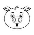cute pig emoji kawaii vector image