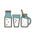 Dairy icon in line style design vector image vector image