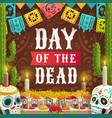 day dead mexican calavera catrina skull vector image
